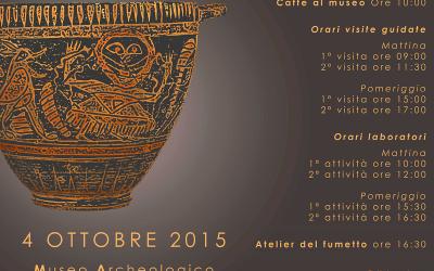"""""""Un etrusco in famiglia"""", museo archeologico casa di tutti a Pontecagnano."""