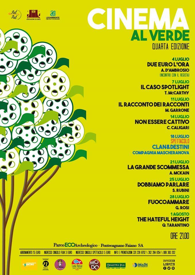 CINEMA AL VERDE al Parco Eco Archeologico di Pontecagnano