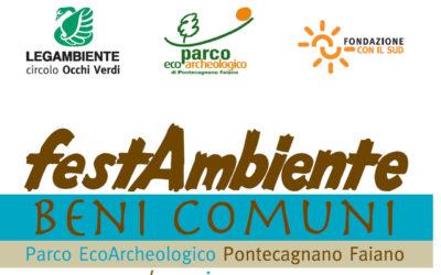"""""""FestAmbiente Beni Comuni"""": Parco in festa a Pontecagnano in nome della condivisione sociale"""