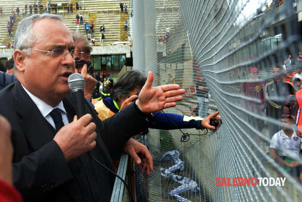 """Salernitana in ritiro, strigliata di Lotito """"Voglio una squadra combattiva"""""""