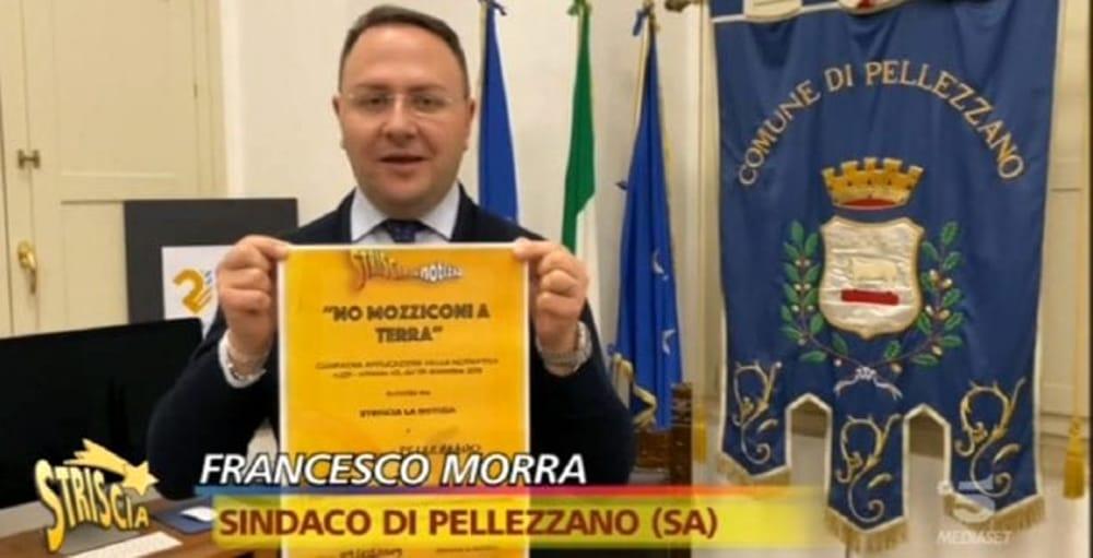 """""""No Mozziconi a terra"""", anche il sindaco di Pellezzano aderisce alla campagna di Striscia la Notizia"""
