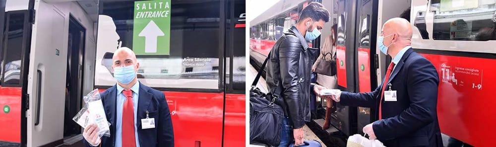 """Trenitalia: un kit di sicurezza gratuito a chi viaggia sulle """"frecce"""""""