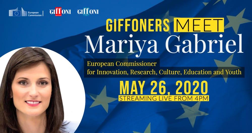 Giffoni: incontro web tra i giffoners ed il Commissario Europeo Mariya Gabriel