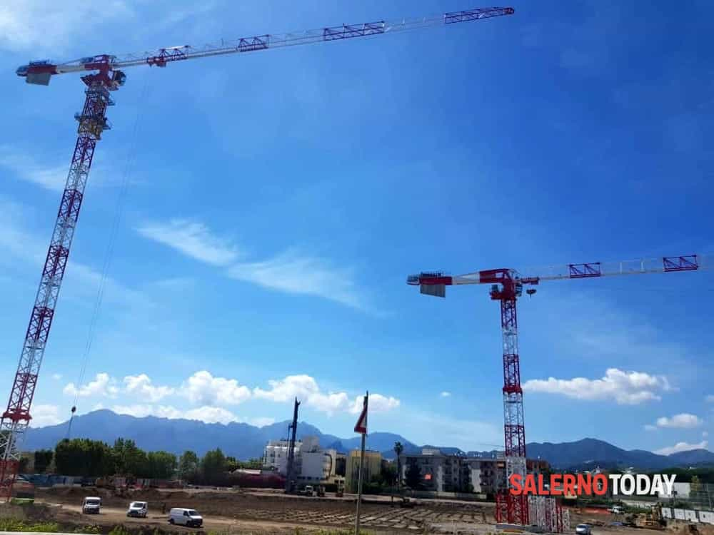 """""""Porta di Mare"""" a Salerno, proseguono i lavori nell'ex fabbrica Marzotto"""