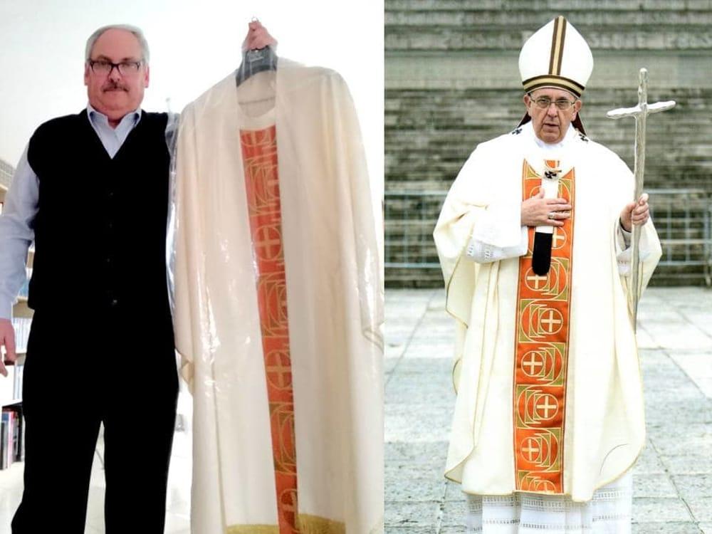 Una Casula di Papa Francesco in dono alla parrocchia di Bellizzi