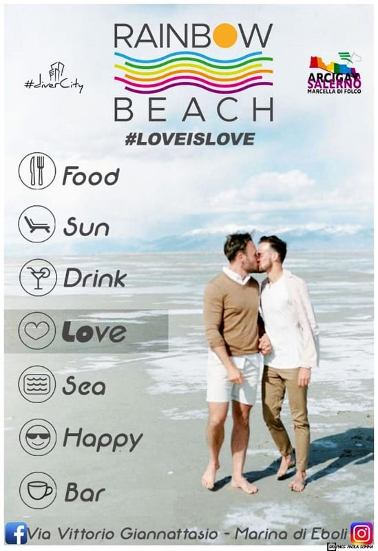 "Apre ""Rainbow beach"", la prima spiaggia gay friendly di Eboli"