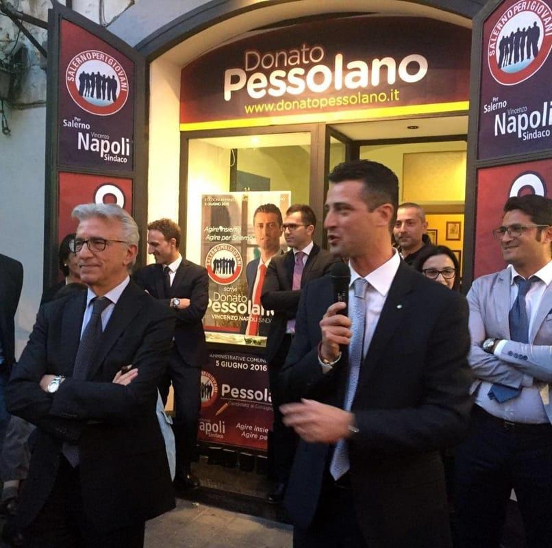 Comune di Salerno, Pessolano aderisce ad Italia Viva: arriva Rosato