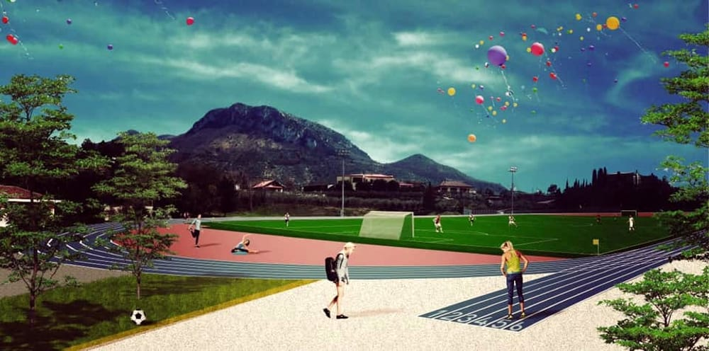 """Adeguamento dello stadio """"G.Troisi"""" a Giffoni: la cerimonia dell'inizio dei lavori"""