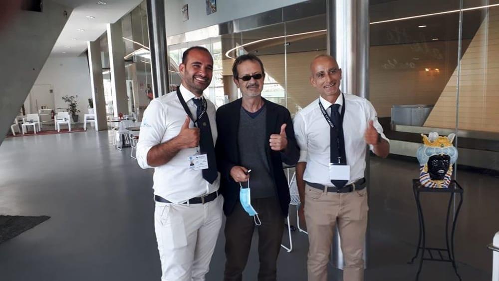 L'onda di Rocco: l'attore Papaleo in visita alla Stazione Marittima