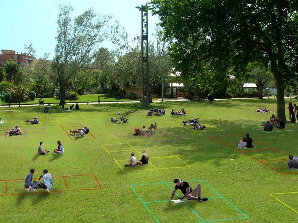 Relax e colori al parco del Mercatello: il progetto di 3 salernitani ispirato al Tetris