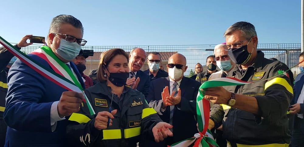 Agropoli, inaugurata la nuova sede dei vigili del fuoco