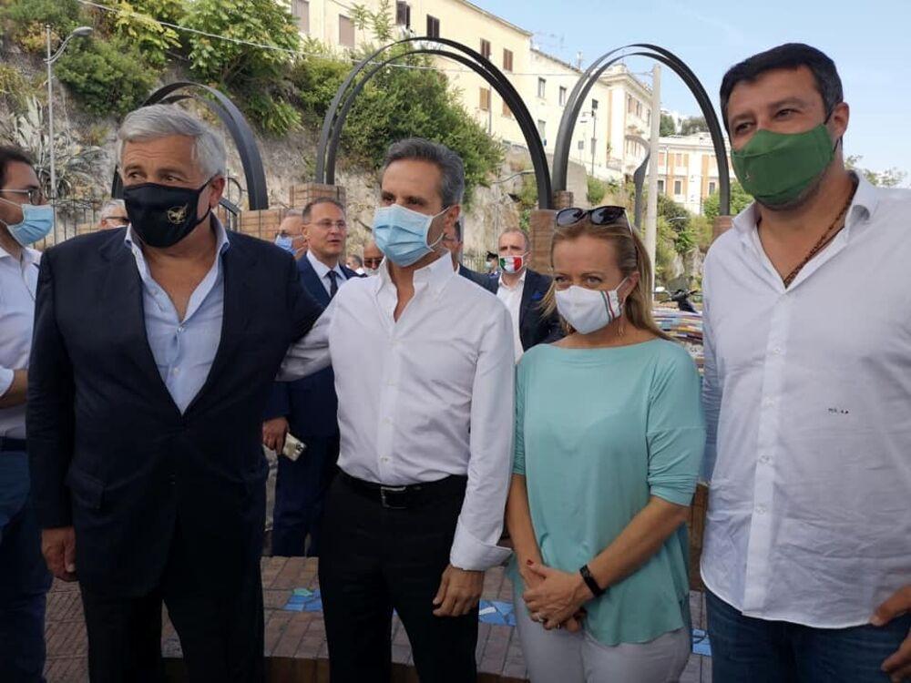 Regionali, Meloni in tour tra Cava e Pagani: incontro con Salvini e Tajani a Vietri