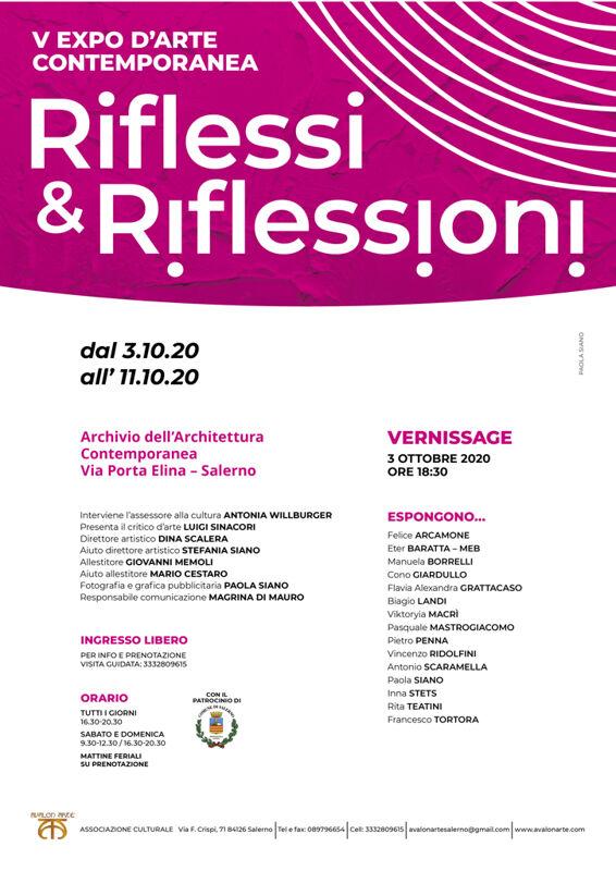 """A Salerno """"Avalon Arte"""" propone la quinta edizione dell'Expo d'arte contemporanea riflessi e riflessioni"""