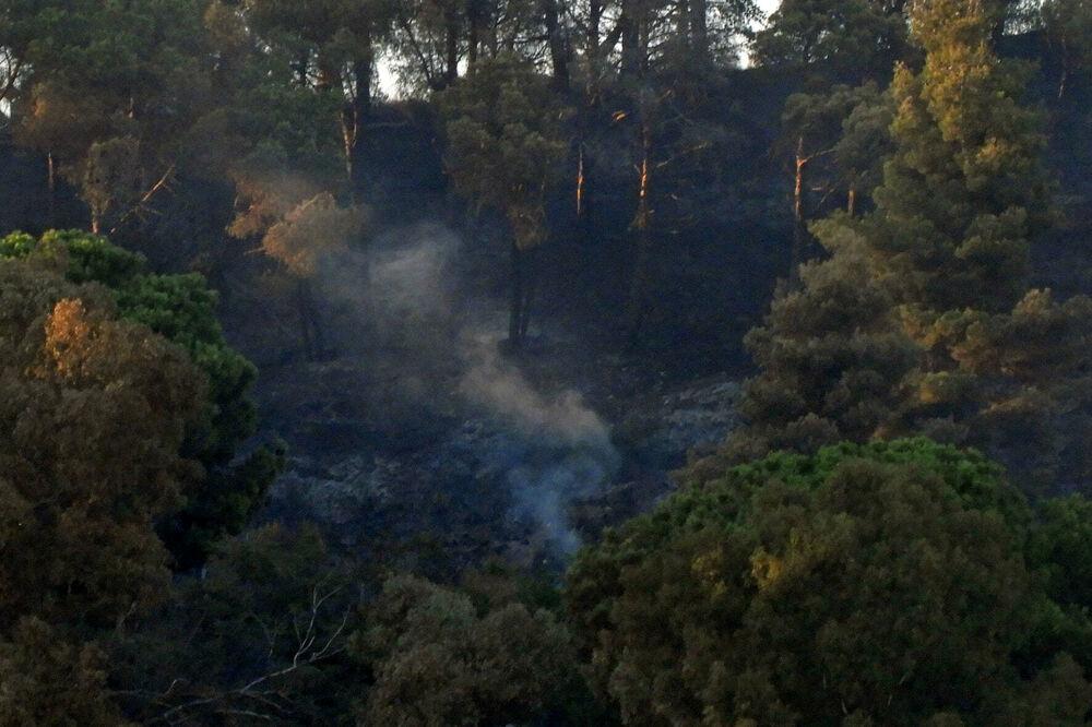 Staccionate e aree pic-nic in fumo: quel che resta del Monte Stella dopo gli incendi