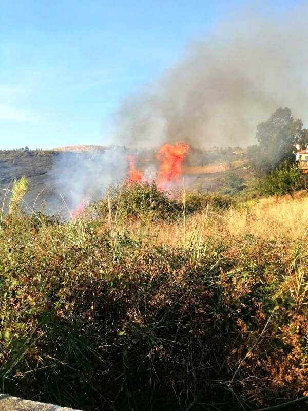 Incendio in località Sardone, a Giffoni: le fiamme lambiscono le abitazioni
