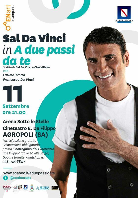 Agropoli: grande attesa per il concerto di Sal Da Vinci
