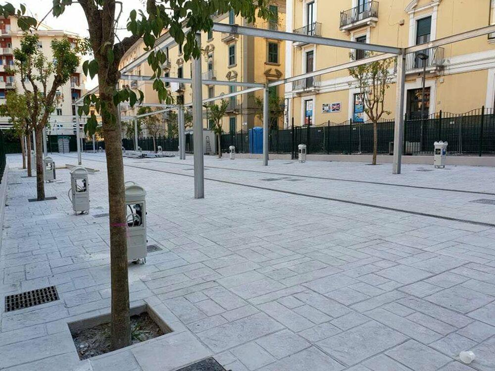 Riqualificazione del mercato di via Piave: pavimentazione ultimata, i lavori