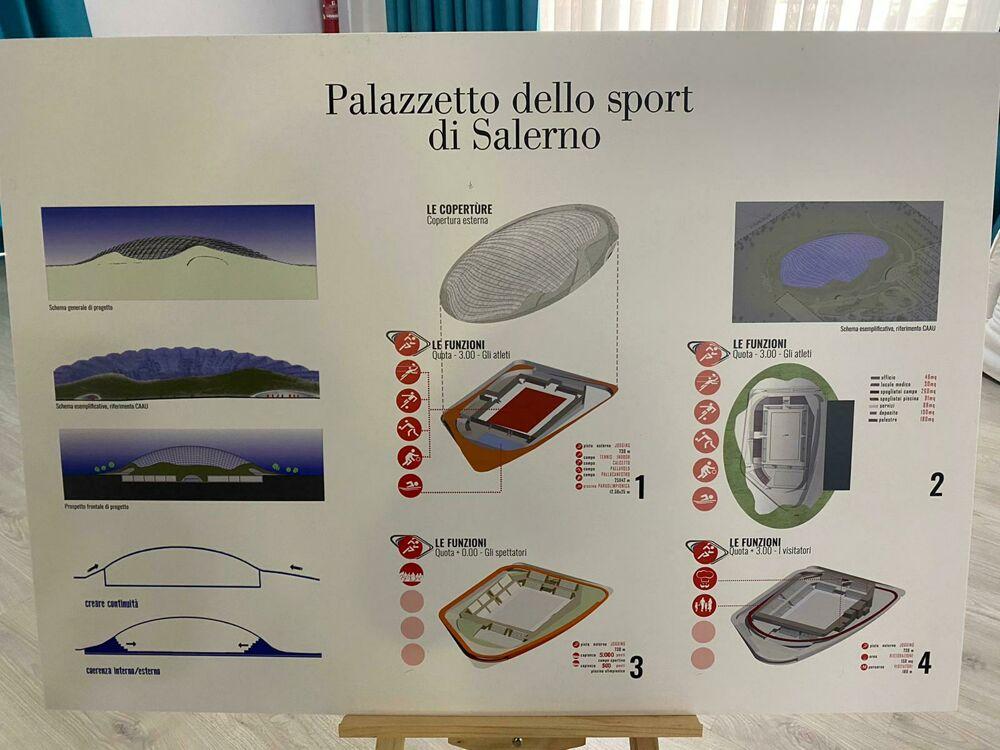 """De Luca presenta il nuovo """"Palazzo dello Sport"""" di Salerno: ecco il progetto"""