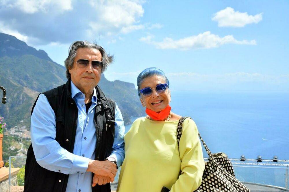 "Costiera Amalfitana, Riccardo Muti incantato da ""Villa Rufolo"""