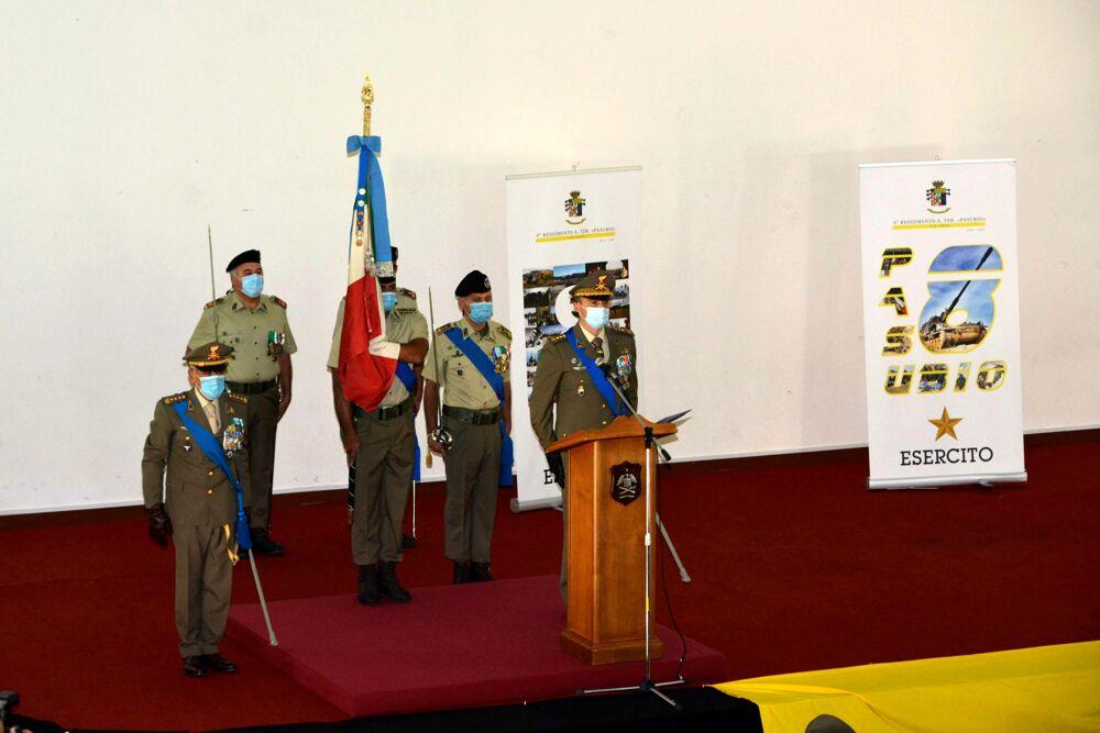 Cambio del comandante all'8° Pasubio di Persano: la cerimonia