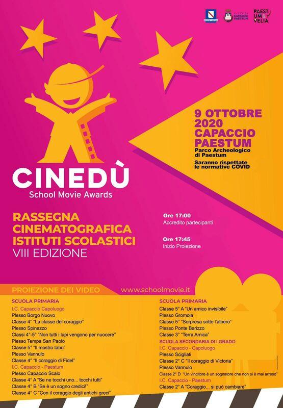 Paestum: torna Cinedù, la rassegna cinematografica degli Istituti scolastici