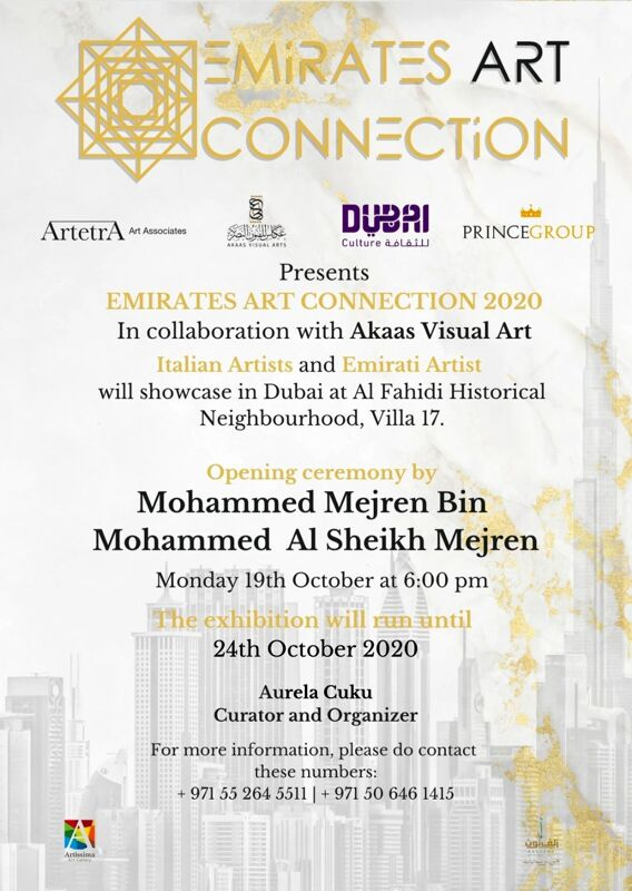 """Emirates Art Connection"", oltre 30 salernitani protagonisti negli Emirati Arabi"