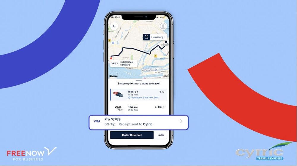 FREE NOW si connette con Amadeus cytric per gestire al meglio i viaggi aziendali