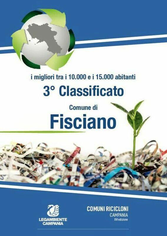 Comuni Ricicloni: Fisciano al terzo posto regionale tra i comuni tra i 10 ed i 15mila abitanti