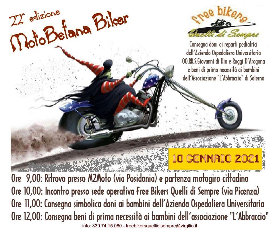Motobefana biker 2021: l'appuntamento a Salerno