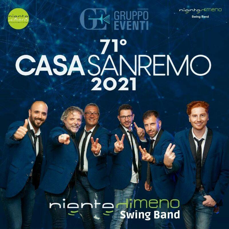 """""""Casa Sanremo 2021"""": la musica è dei campani """"Nientedimeno Swing Band"""""""