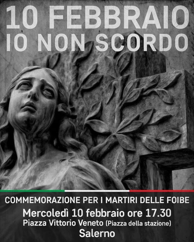 Vittime delle Foibe, il Circolo Praesidivm alla cerimonia di Salerno