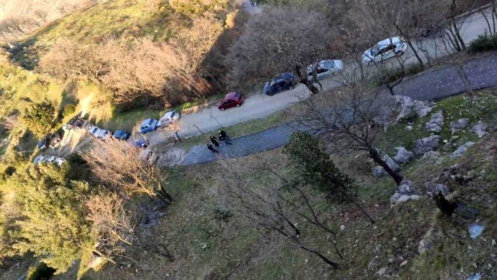 Controlli anti-Covid a Castel San Giorgio: un drone ispeziona la montagna