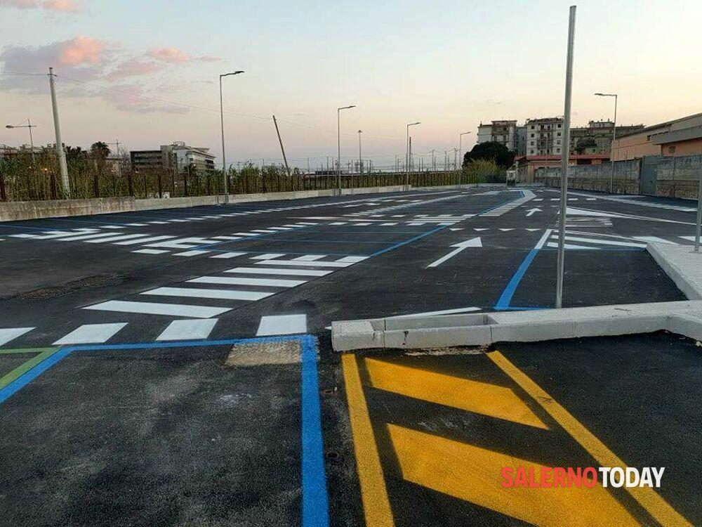 Salerno, completato il nuovo parcheggio della stazione