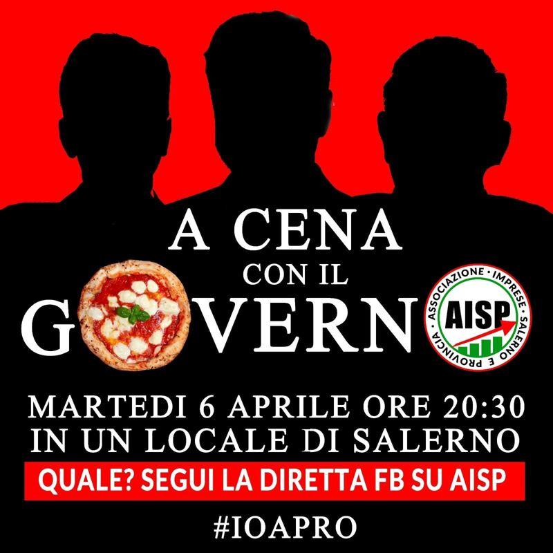 """#ioapro: domani i gestori """"a cena con il Governo"""" in un locale salernitano, inizia la protesta"""
