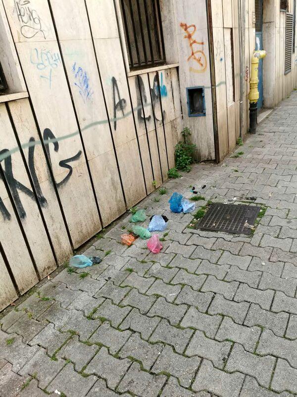 Sacchetti con deiezioni canine abbandonati in via San Giovanni Bosco: l'appello di un residente