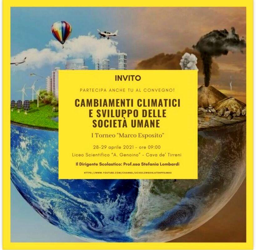 """Cava de' Tirreni, al liceo scientifico """"Genoino"""" due giorni di convegno su ambiente e clima"""