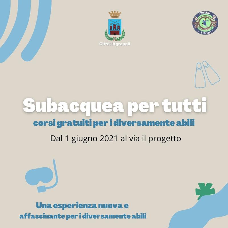 """Agropoli, parte """"Subacquea per tutti"""": i corsi gratuiti per i diversamente abili"""