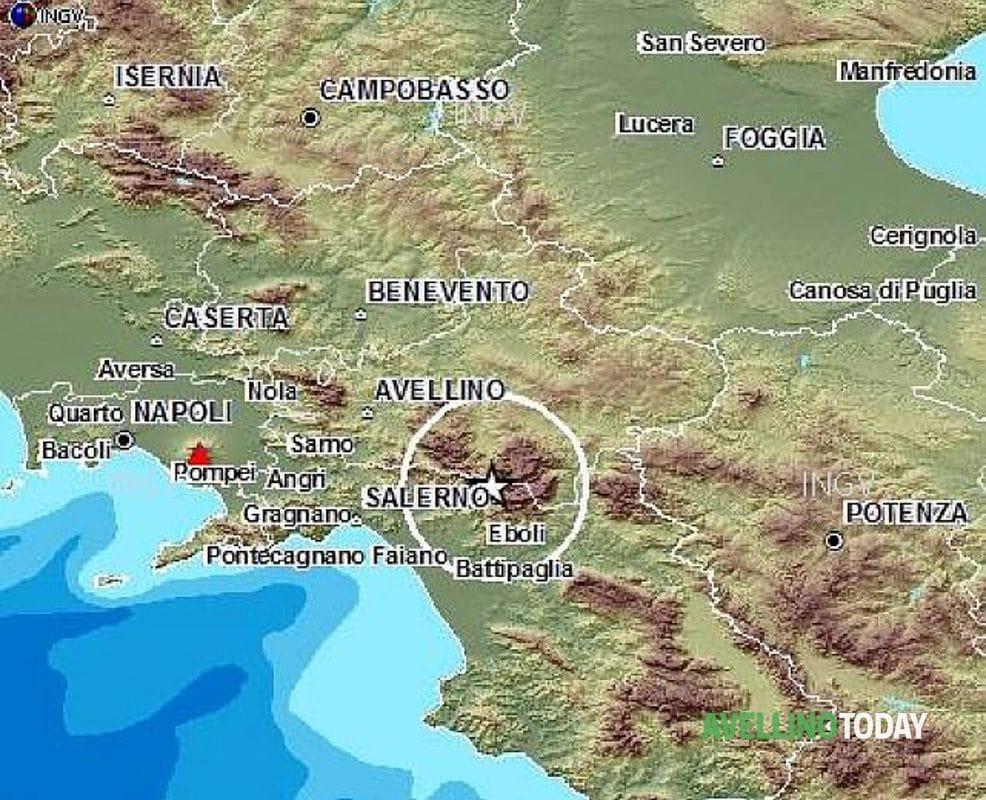 Terremoto in Campania: scossa avvertita anche in provincia di Salerno
