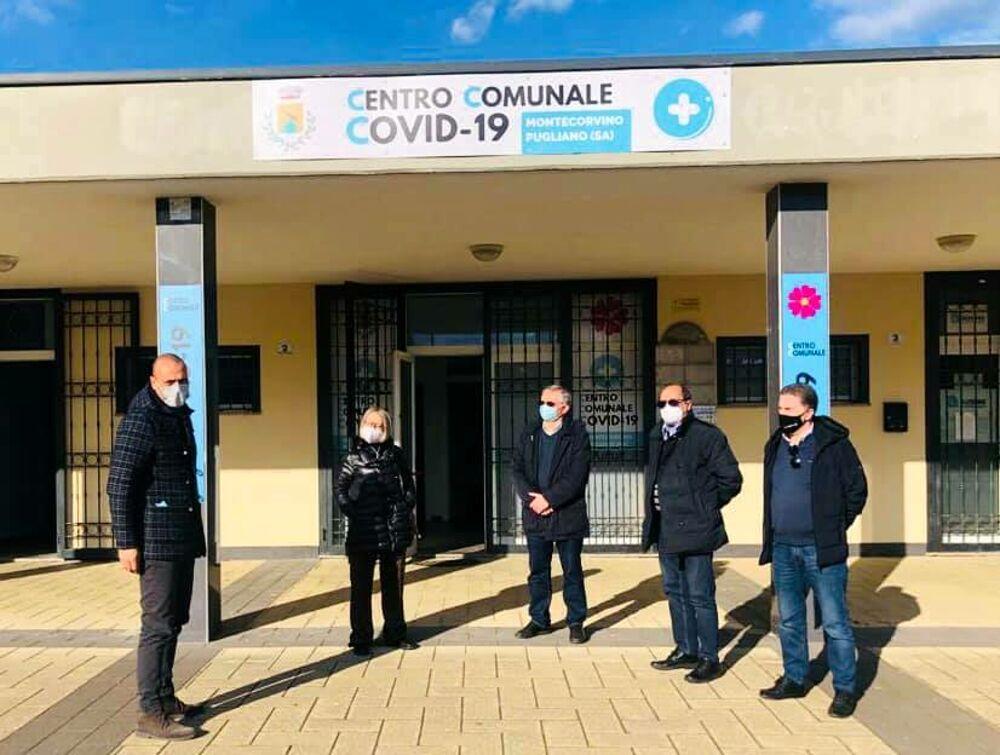 Covid-19, apre nuovo centro vaccinale a Montecorvino Pugliano
