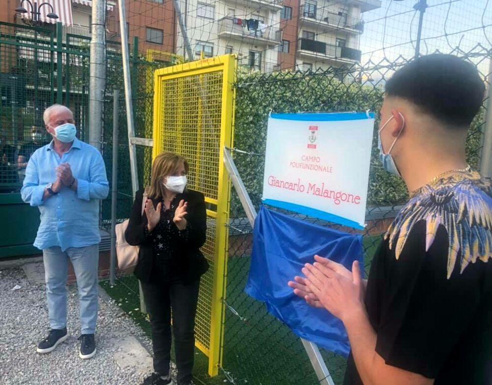 Baronissi, inaugurato il campetto polifunzionale intitolato a Giancarlo Malangone