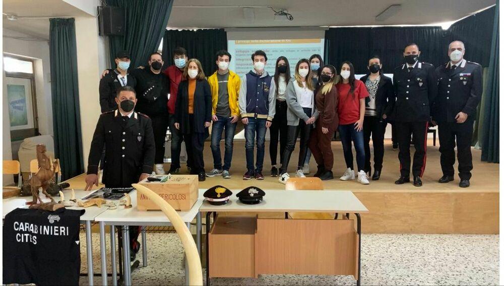 Legalità e scuola, i ragazzi della VA del Liceo Alfano e il progetto con l'Arma dei carabinieri
