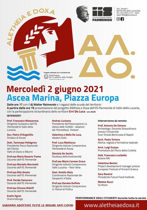 "Ascea Marina: al via il progetto ""Alétheia e Doxa"""