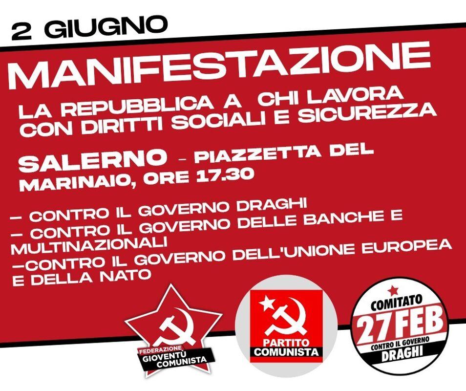 Festa della Repubblica: l'iniziativa del Partito Comunista