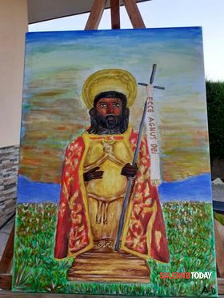 Angri, il giovane Alfonso D'Antuono realizza un'opera per San Giovanni Battista