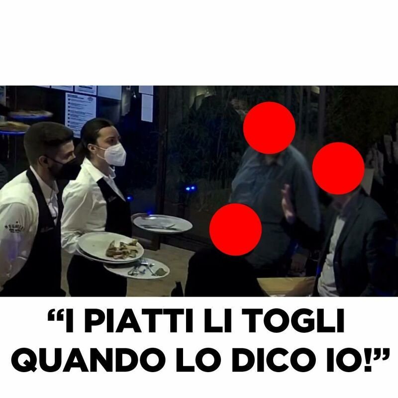 """""""I piatti li togli quando dico io"""", cliente si scaglia contro le dipendenti della pizzeria """"Re Denari"""""""