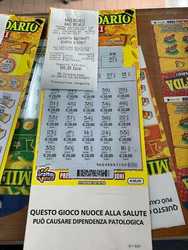 La dea bendata strizza l'occhiolino a Pellezzano: gioca 20 euro e ne vince 500