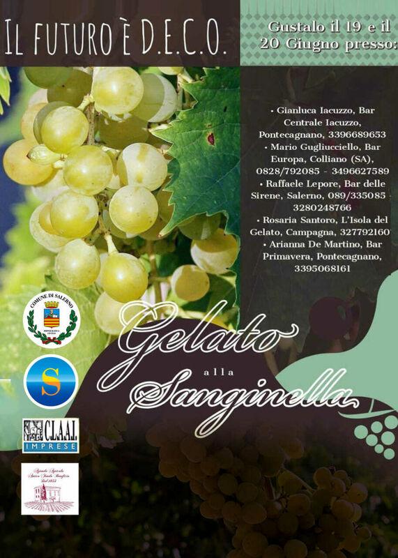 L'uva Sanginella verso il marchio Deco: la mappa per degustarne il gelato