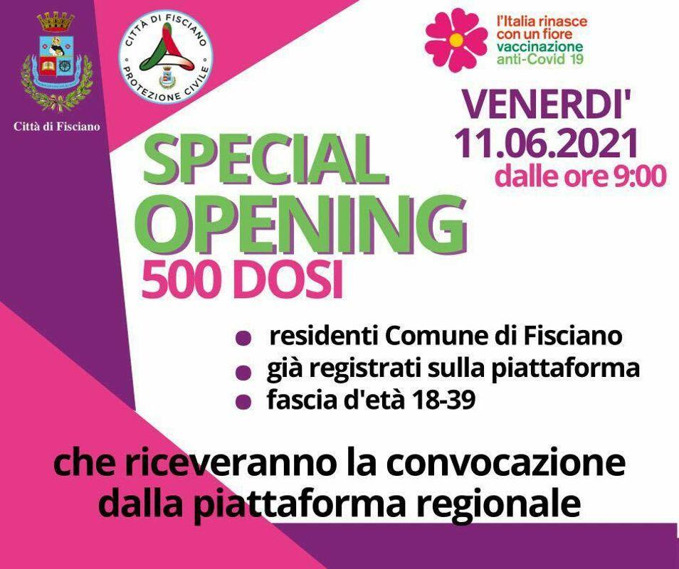 Open day vaccinale a Fisciano, a Nocera il centro per le dosi cambia sede