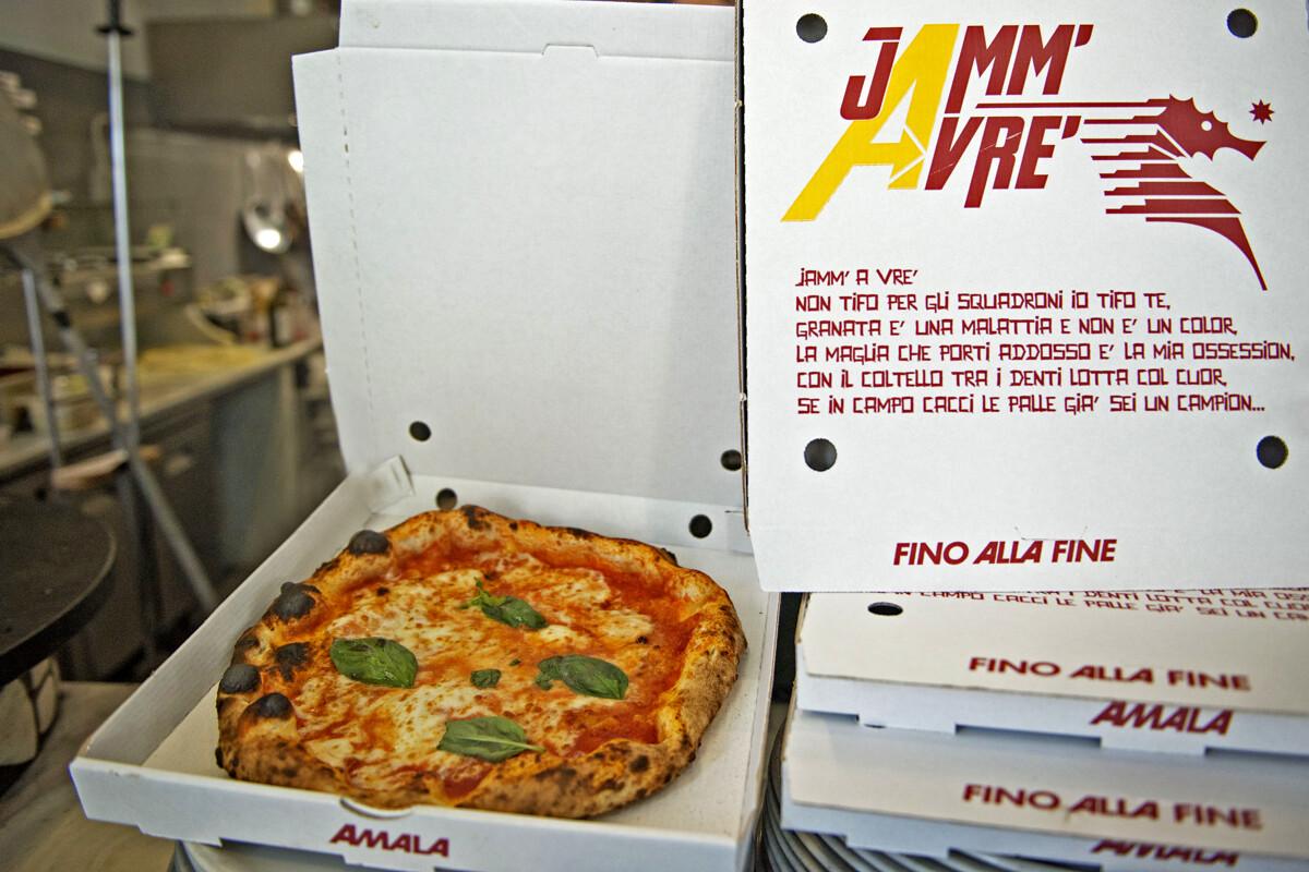 """""""Jamm'avrè"""", il messaggio d'amore della pizzeria Capri per la Salernitana"""