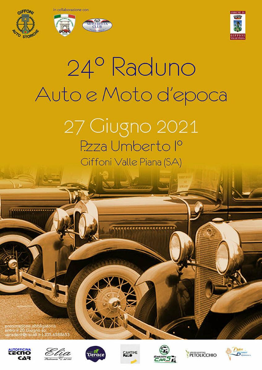 Giffoni Valle Piana: grande attesa per il XXIV Raduno di Auto e Modo d'Epoca